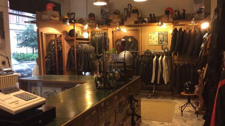 negozio abbigliamento moto