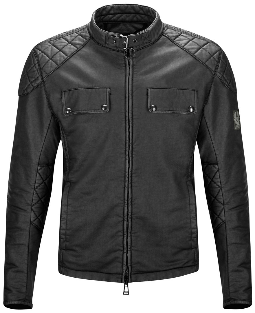 Belstaff XMan Racing Blouson 41020020 J61N4970 X MAN RACING RUBBERIZED FLEECE BLACK
